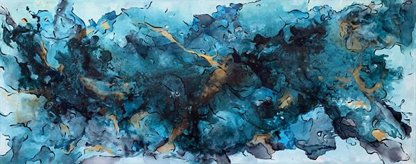 """59x 23,5""""( 150x60cm), Sound of the Ocean by Veronica Vilsan"""