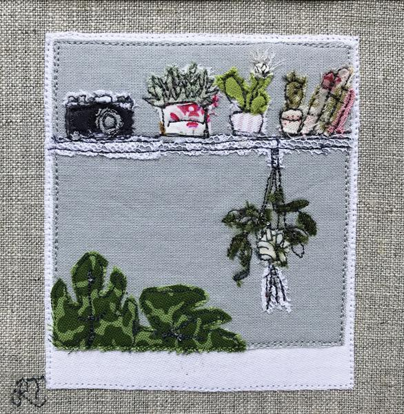 Green Seen - Textile Art by Rachel Tappin