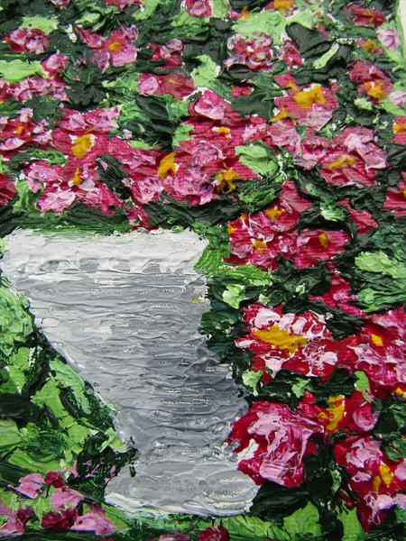 Cascade of flowers by Francoise Booth