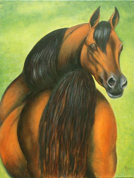 Chestnut Arabian by Jane Moore