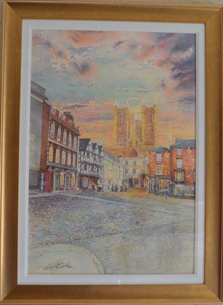 Early Evening, Castle Square, Lincoln by Carl Paul