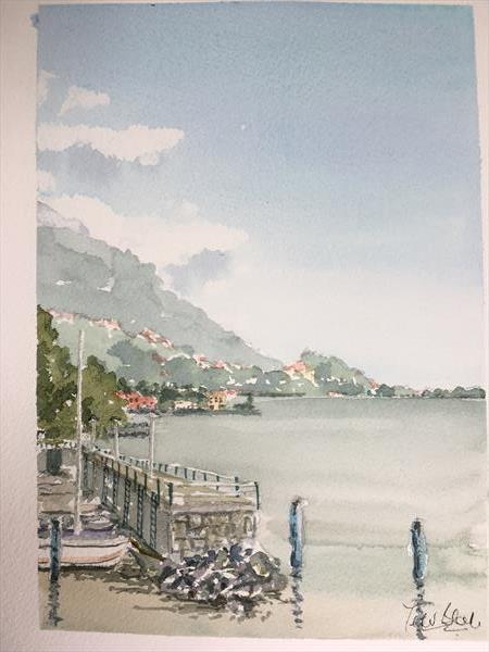 Lake Iseo at Lovere by Peter Blake