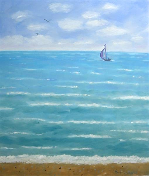 Sea Breeze Seascape painting by Mary Stubberfield