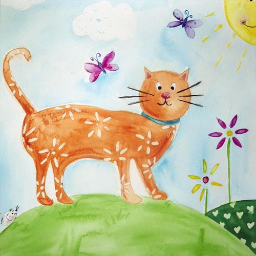 Ginger Cat by Laura Ashiley