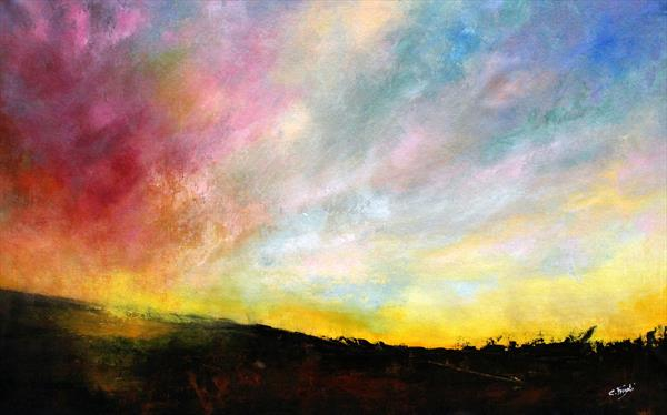 Far ...Far Away - Original abstract landscape by Cecilia Frigati