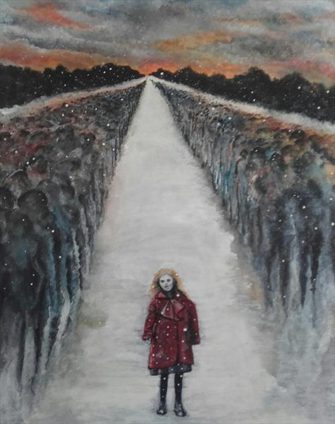 The girl in the red coat  by John Dallimore