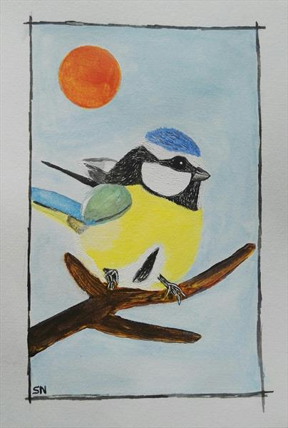 The blue tit  by Sara Naglic Curis