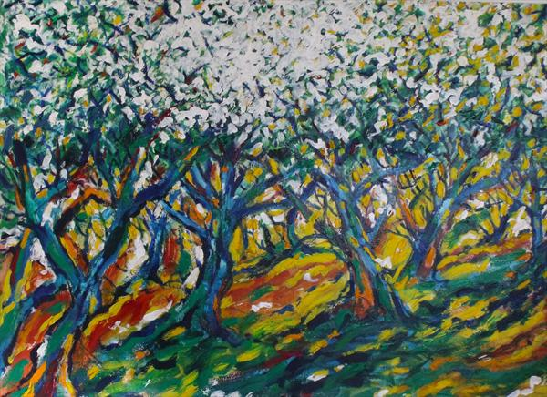 Orchard in Blossom by Peter King