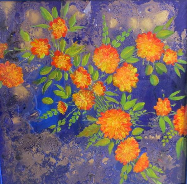Flowers In a Gold Mist by PAULINE furnival