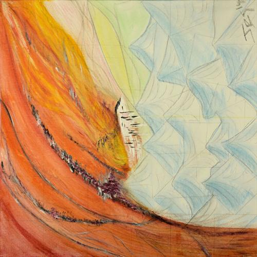 Daybreak and the Fire Field Collides by Julian Gosland