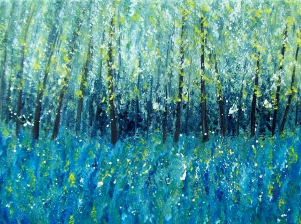 Woodland Bluebells 2# by Patricia Richards