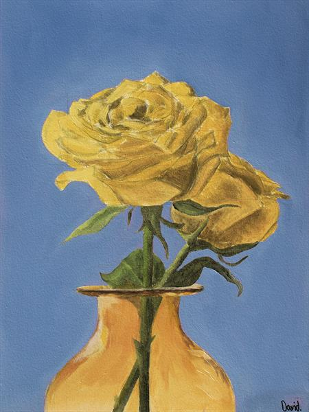 Yellow rose by David Foster