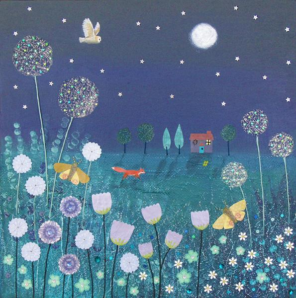 SPRING SALE - Midnight Meadow by Josephine Grundy