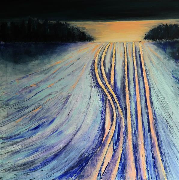 Frozen traces and the sunrise - Fields and Colors Series by Danijela  Dan