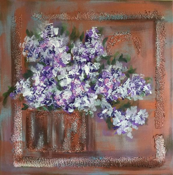 Abstract Still Life with Lilac by Viktoria Ganhao