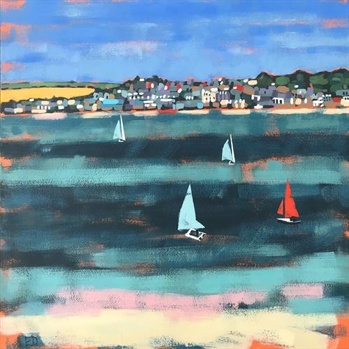 Padstow (Viewed From Rock) by Emma Dashwood
