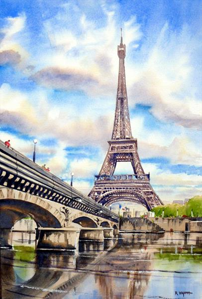 The Eiffel Tower from across the Seine by Rob Wigham