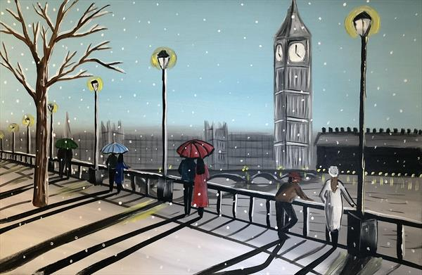 Snowing In London 7 by Aisha Haider