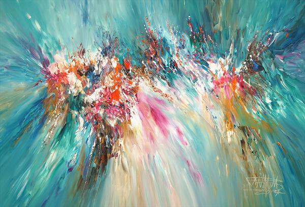 Turquoise Daydream XL 1 by Peter Nottrott