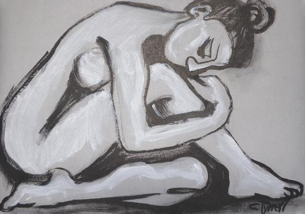 Posture 4 - Female Nude by Carmen Tyrrell
