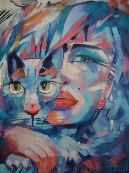 SHE AND THE CAT by Sonja Brzak