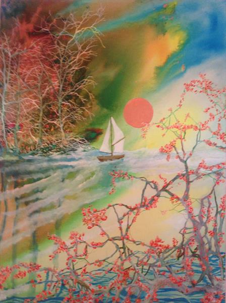 Blossoms of the Dawn (large canvas) by David King