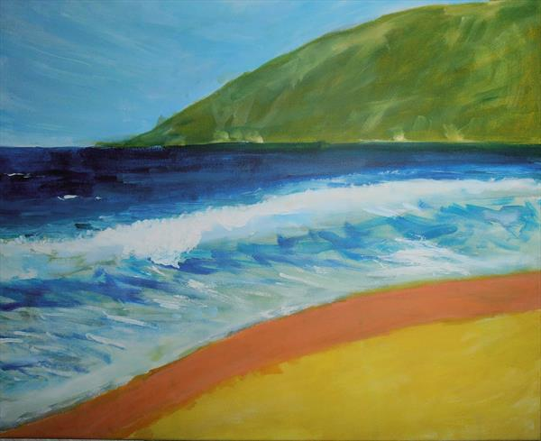 Simple Expressive Seascape by Natalie Medley