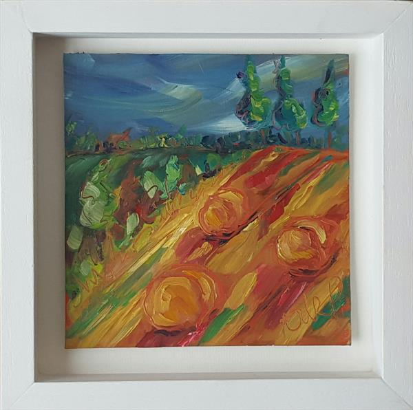Summer Harvest Fields  by niki purcell