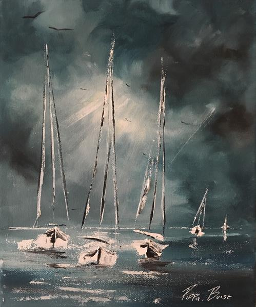 Little Boats I by Pippa Buist