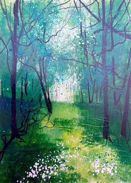 Wild Garlic Woodland by Teresa Tanner