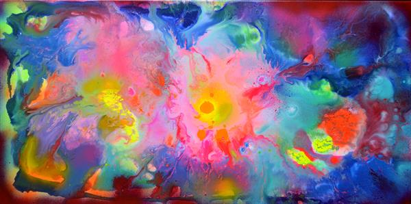 Perfect Harmony XVII - Abstract Painting - Ready to Hang, Office, Home, Hotel, Restaurant Decor by Soos Tiberiu - Anton
