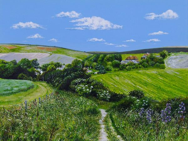Summer over Telscombe (Sussex) by Paula Oakley