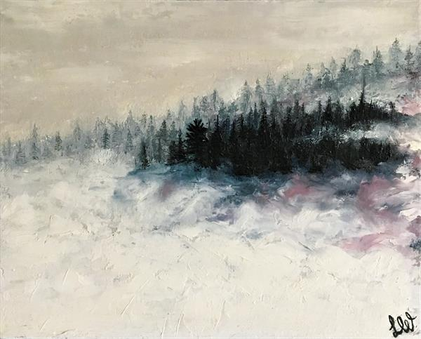 Snowy Misty Mountain by Lesley White