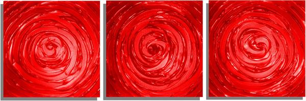 Red Swirl - Triptych by Areeb Anwar