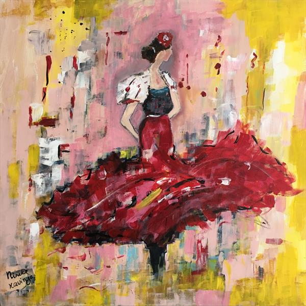 Flamenco dancer by Nineke Havinga