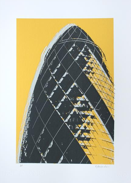The Gherkin London (yellow)