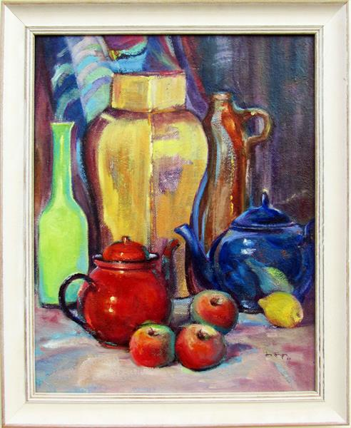 The Red and Blue Teapots by Jean Simpson