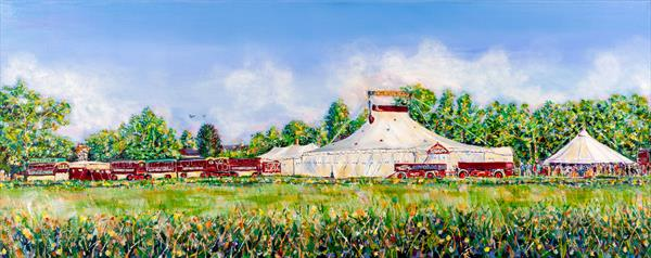 GIFFORDS CIRCUS AT FRAMPTON ON SEVERN by Diana Aungier - Rose