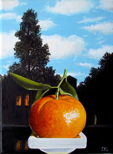 My clementine with Magritte by Jean-pierre Walter