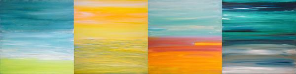 4 Seasons - 126 x 31.5 inches - Inspired by Vivaldi's Four Seasons