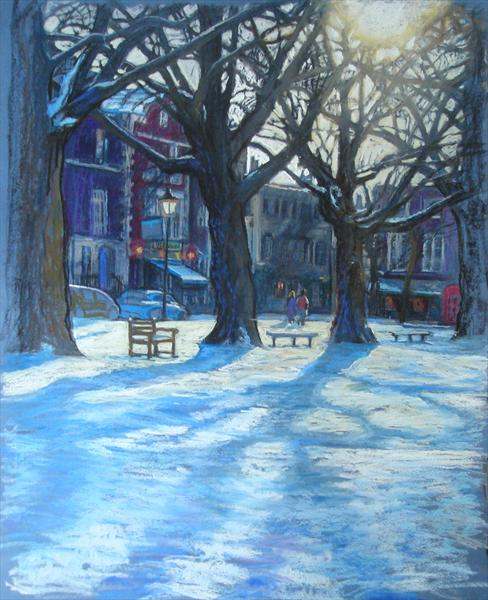 Richmond Green, Snow in Winter (giclee print) by Patricia Clements