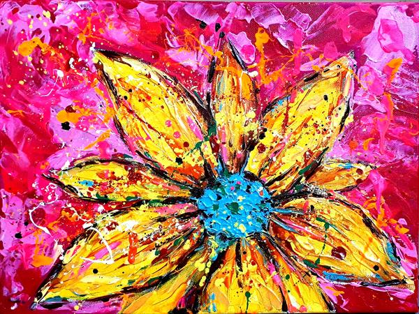 Here's a flower for the optimist in you by Georgiana Nicolae