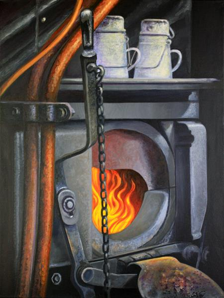 Steam Train Firebox Severn Valley Railway  by Simon Knott