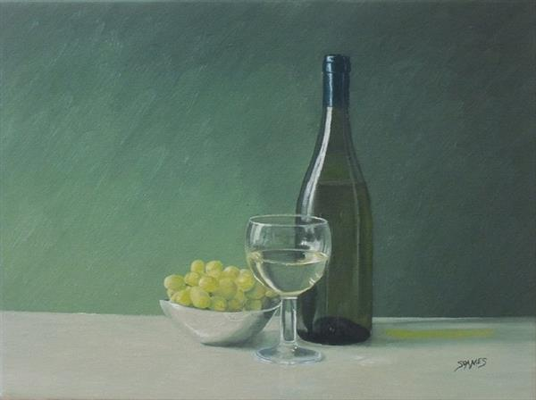 Green Grapes & White Wine 1 by Ian Soames