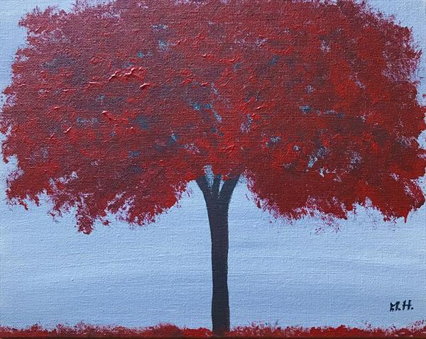 Red tree by Monika Howarth