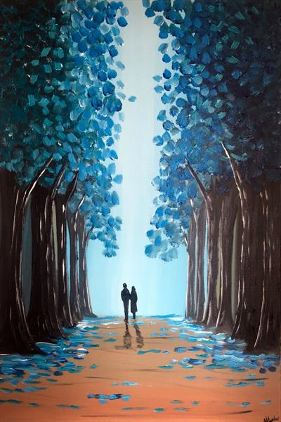 Through The Blue Trees 2 by Aisha Haider