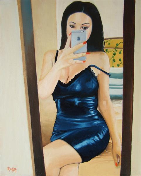 Selfie in the mirror by Roy Lee