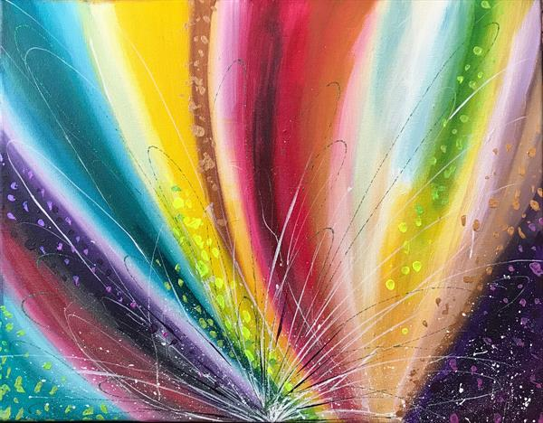 Energy Abstract Painting by  Rizna  Munsif