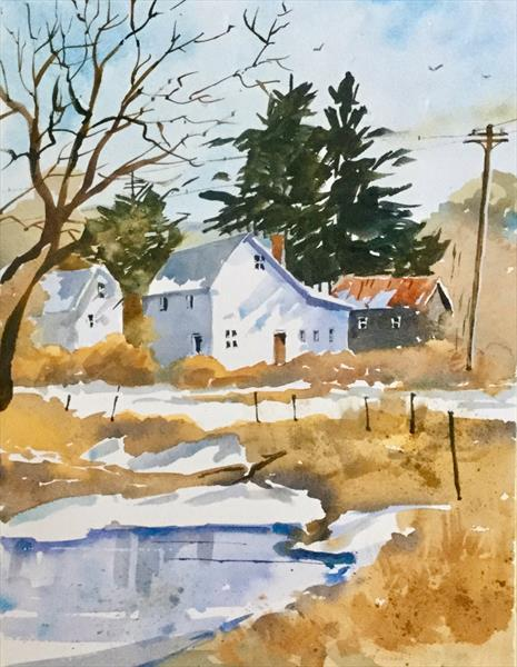 WINTER AT PINE LODGE by Susan Shaw