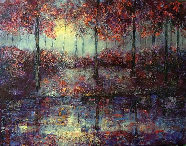 Autumn at the Lake by Colette Baumback